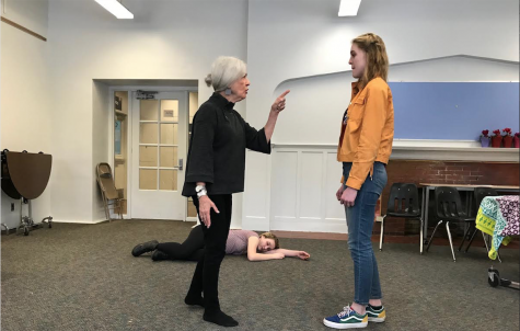 Judith DeWoskin and Isabel Perry rehearse a scene for CET